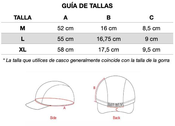 Guia-de-tallas-Mooquer-Gorras-de-Ciclismo-ropa-ciclista