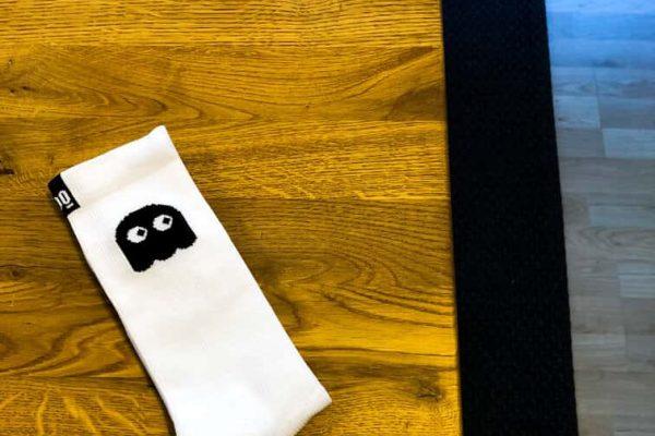 calcetin de ciclismo mooquer calcetines de ciclismo ghosty white stan calcetin ciclismo caña alta