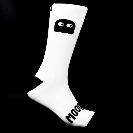 Calcetines de ciclismo ghosty white Stan calcetines ciclistas mooquer 1
