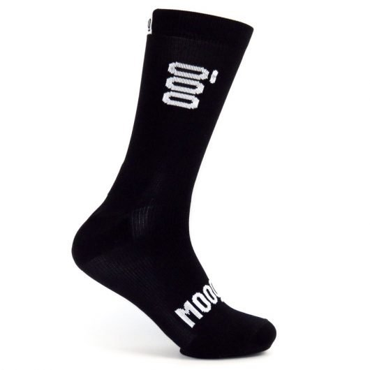 Calcetines de ciclismo Smoked Stan Mooquer Calcetines ciclistas negros