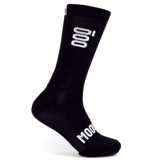 Calcetines de ciclismo Smoked Stan Mooquer Calcetines ciclistas negros